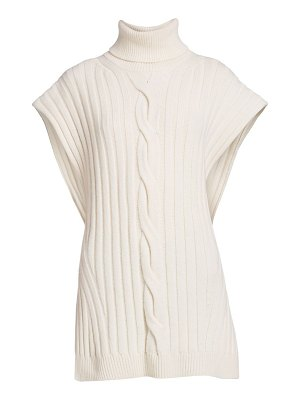 Alexander McQueen cable knit sleeveless turtleneck sweater