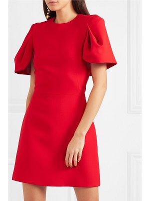 Alexander McQueen cape-effect wool-blend crepe mini dress