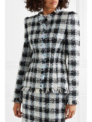 Alexander McQueen checked bouclé-tweed blazer