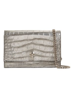 Alexander McQueen Croc embossed leather bag