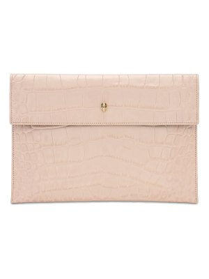Alexander McQueen Croc embossed leather clutch