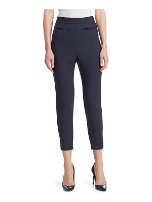Alexander McQueen cropped high-waist stretch wool pants