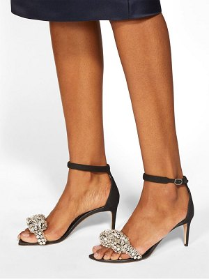 Alexander McQueen crystal embellished leather sandals