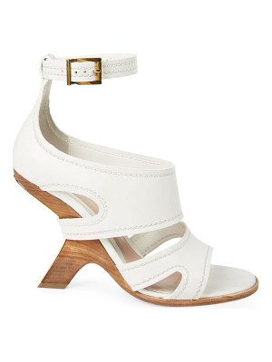 Alexander McQueen curved-heel leather sandals