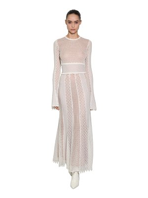 Alexander McQueen Cut out cotton and silk crocheted dress