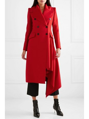 Alexander McQueen double-breasted asymmetric wool and cashmere-blend coat