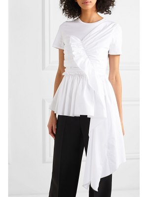 Alexander McQueen draped cotton-jersey t-shirt