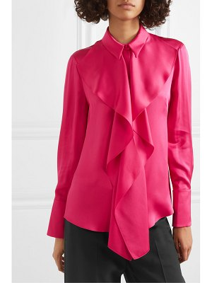 Alexander McQueen draped silk-satin blouse