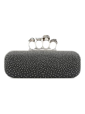 Alexander McQueen embellished leather clutch