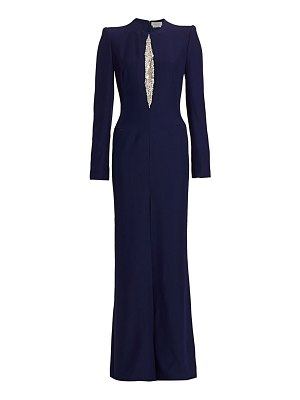 Alexander McQueen embellished vented long-sleeve gown