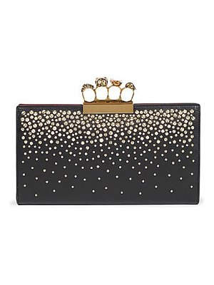 Alexander McQueen four-ring leather clutch
