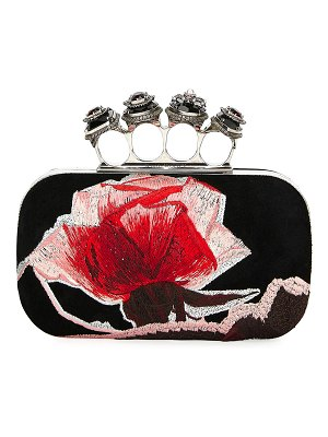 Alexander McQueen Jeweled and Embroidered Clutch Bag