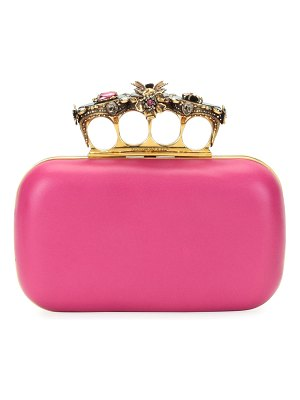 Alexander McQueen Jeweled Insect Four-Ring Box Clutch Bag