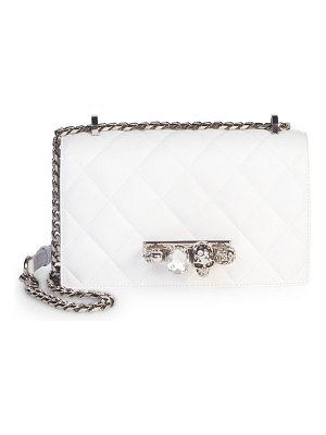 Alexander McQueen skull jewelled matelassé leather satchel