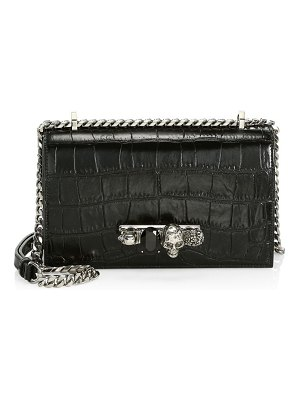 Alexander McQueen jewelled leather satchel