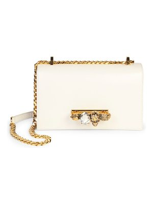 Alexander McQueen skull jewelled leather satchel