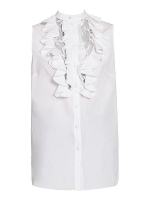 Alexander McQueen lace front ruffled blouse