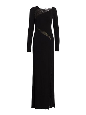 Alexander McQueen lace panel jersey gown