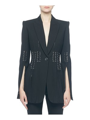 Alexander McQueen Lace-Up Split-Sleeve Jacket