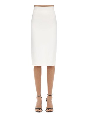 Alexander McQueen Leaf crepe pencil skirt
