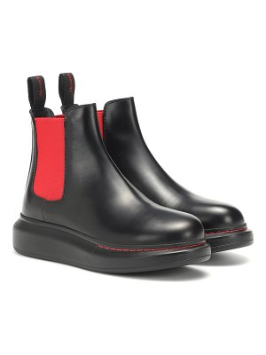 Alexander McQueen leather chelsea ankle boots