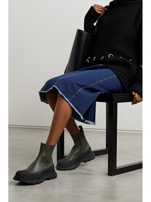 Alexander McQueen leather exaggerated-sole chelsea boots
