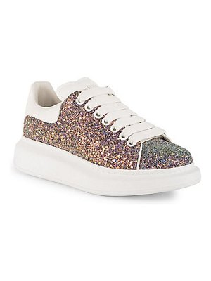 Alexander McQueen leather glitter sneakers