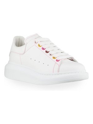 Alexander McQueen Leather Rainbow Lace-Up Platform Sneakers
