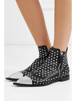 Alexander McQueen metal-trimmed studded leather ankle boots
