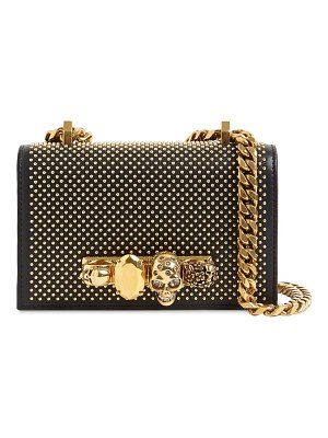 Alexander McQueen Mini jeweled leather satchel bag