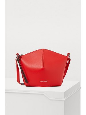 Alexander McQueen Mini leather bucket bag