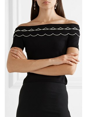 Alexander McQueen off-the-shoulder stretch-knit top