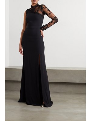 Alexander McQueen one-sleeve lace and crepe gown