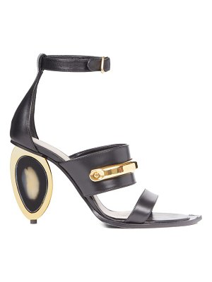 Alexander McQueen oval-heel leather sandals