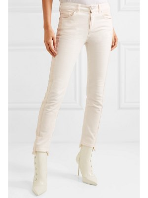 Alexander McQueen paneled high-rise skinny jeans