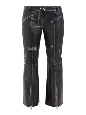 Alexander McQueen panelled kick flare leather trousers