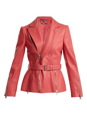 Alexander McQueen Peak-lapel leather biker jacket
