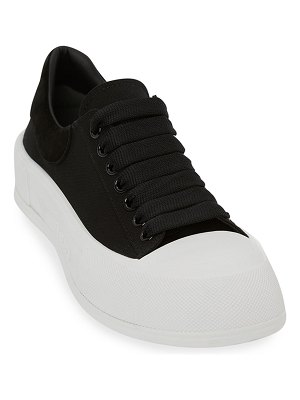 Alexander McQueen Plim Chunky-Sole Court Sneakers