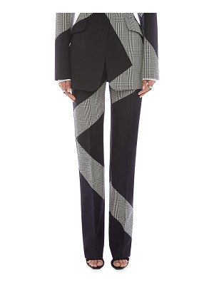 Alexander McQueen Prince of Wales Check Wool-Blend Cigarette Trousers