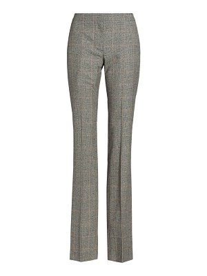 Alexander McQueen prince of wales wool-blend cigarette trousers