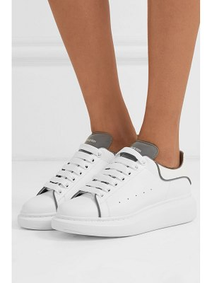 Alexander McQueen reflective-trimmed leather exaggerated-sole sneakers