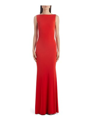 Alexander McQueen ruched back jersey gown