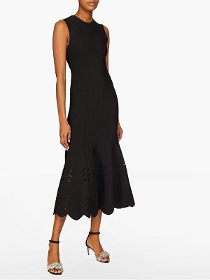 Alexander McQueen scalloped knitted midi dress
