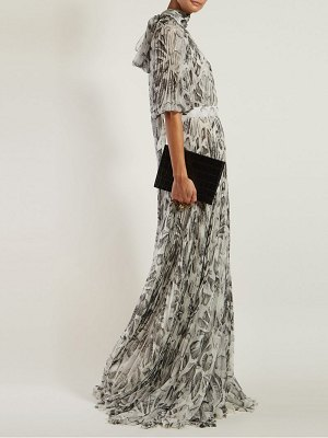 Alexander McQueen shell print pleated gown