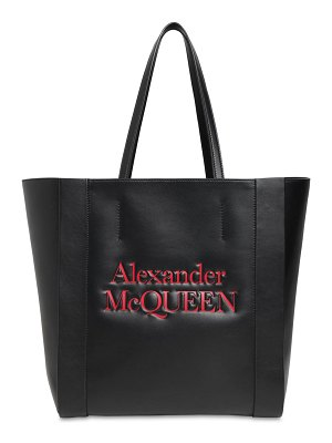 Alexander McQueen Signature logo leather tote bag