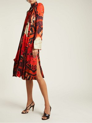 Alexander McQueen silk satin butterfly print dress