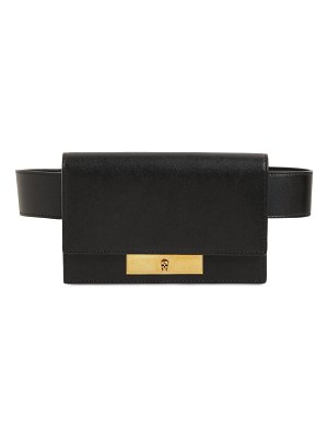 Alexander McQueen Skull lock leather belt bag