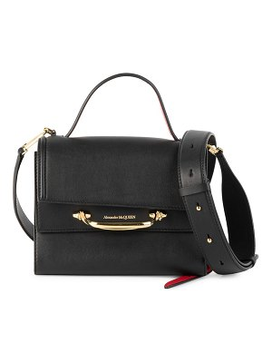 Alexander McQueen small story flap top handle bag