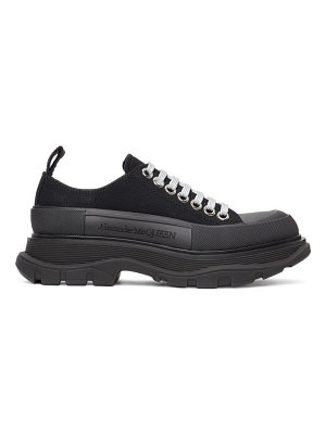 Alexander McQueen ssense exclusive black tread slick sneakers