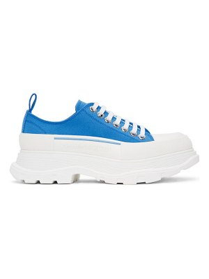 Alexander McQueen ssense exclusive blue tread slick sneakers